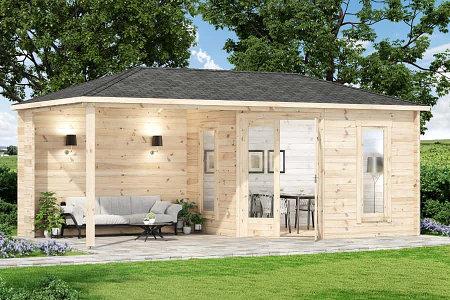 Alpholz 5-Eck Gartenhaus Liwa-28 ohne Imprägnierung