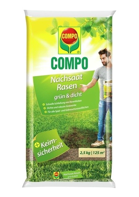 COMPO COMPO Nachsaat-Rasen grün und dicht 2,5 kg für 125 m²