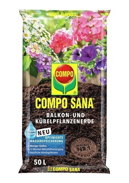 COMPO COMPO SANA® Balkon- und Kübelpflanzenerde 50 L