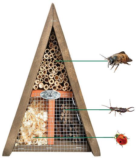 Esschert Design Bienen- & Insektenhaus dreieckig 19x17x28 cm,1 Stück