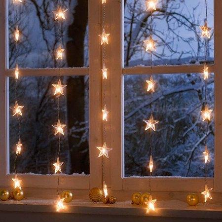 LED Lichterkette Sternenvorhang