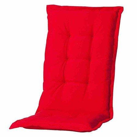 MADISON Auflage für Sessel hoch, Panama rot, 75% Baumwolle 25% Polyester