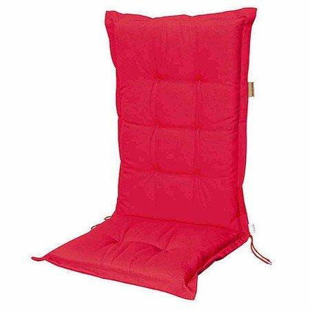 MADISON Auflage für Sessel niedrig, Panama rot, 75% Baumwolle 25% Polyester
