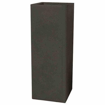 PP-PLASTIC Cube high schwarz-granit, betonlook, 265x265x725mm