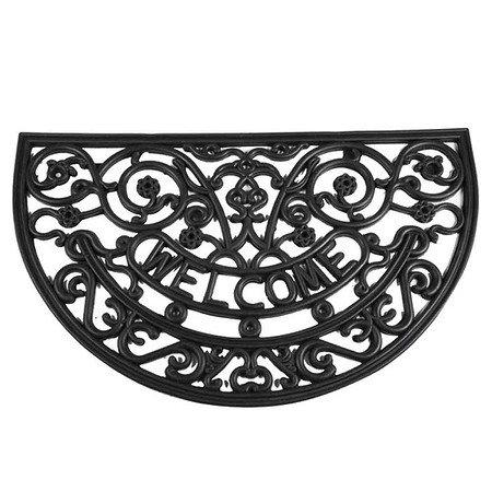SIENA GARDEN Gummimatte Antik halbrund, schwarz 45x75 cm
