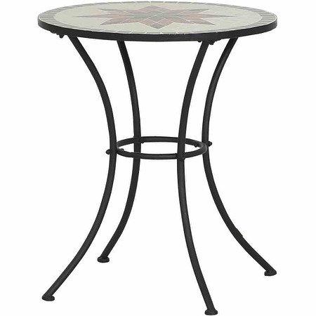 SIENA GARDEN Tisch Stella Ø 60 cm, rund, Gestell Eisen / Mosaik-Optik