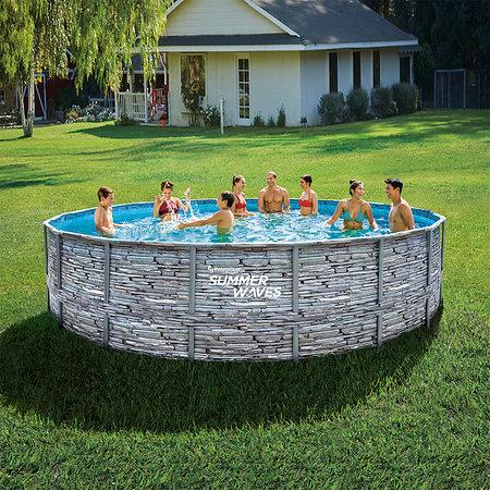 Summer Waves Elite Pool grau