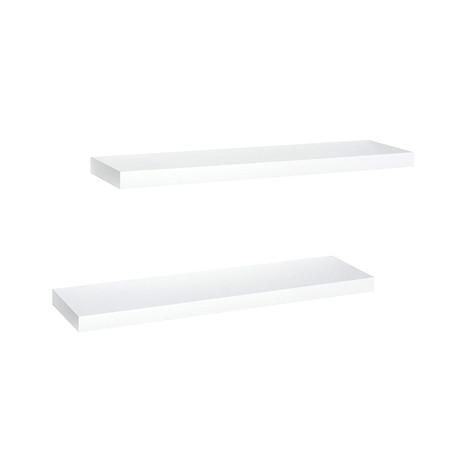 "Wandregal-Set ""Gloss"", 2-tlg. 80 cm Weiß"