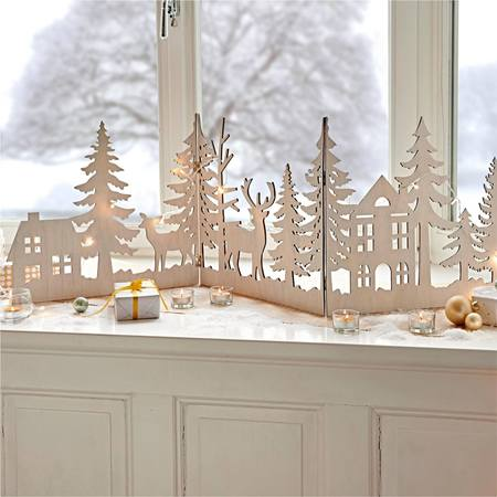 Weihnachts-Silhouette Waldzauber